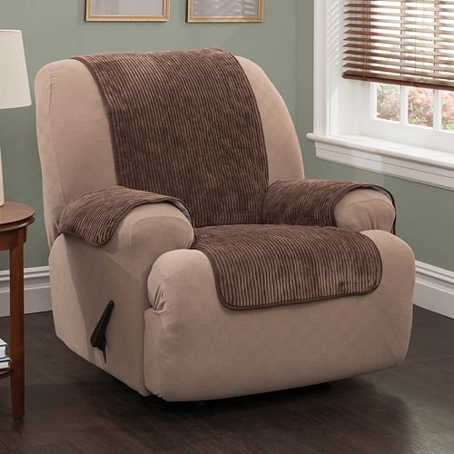 Innovative Textile Solutions Plush Stripe Chair Slipcover