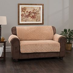 Innovative Textile Solutions Plush Stripe Loveseat Slipcover