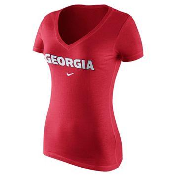 Women's Nike Georgia Bulldogs Wordmark Tee