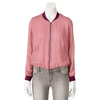 Juniors' Cloud Chaser Zip Up Bomber Jacket