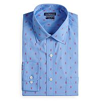 Men's Croft & Barrow® Regular-Fit Checked Easy-Care Spread-Collar Dress Shirt
