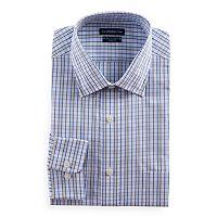 Men's Croft & Barrow® Regular-Fit Checked Easy-Care Spread-Collar Dress Shirt