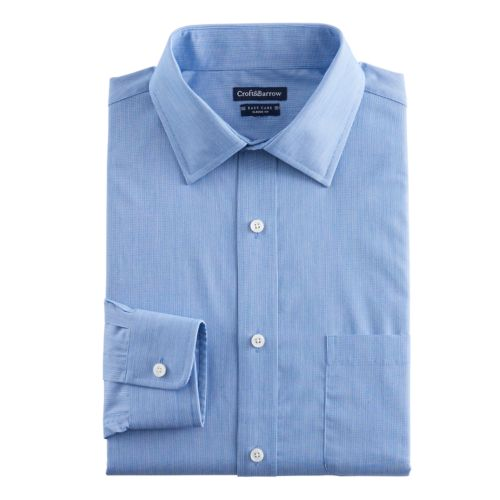 Men's Croft & Barrow® Regular-Fit Easy-Care Spread-Collar Dress Shirt