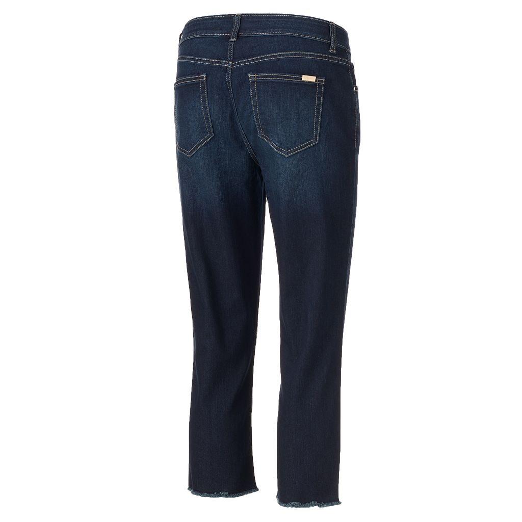 Women's Jennifer Lopez Frayed Capri Jeans