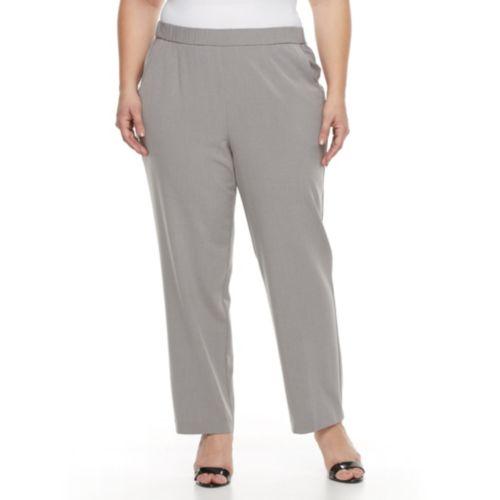 Plus Size Croft & Barrow® Straight-Leg Pull-On Dress Pants