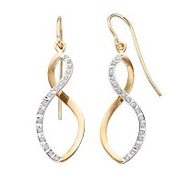 Diamond Mystique Sterling Silver Infinity Drop Earrings