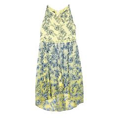 Girls 7-16 IZ Amy Byer Floral Chiffon Mock-Wrap Dress