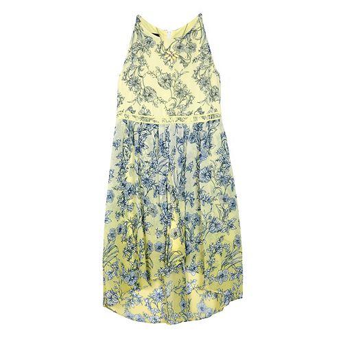Girls 7-16 IZ Amy Byer Floral Chiffon Mock-Wrap Dress