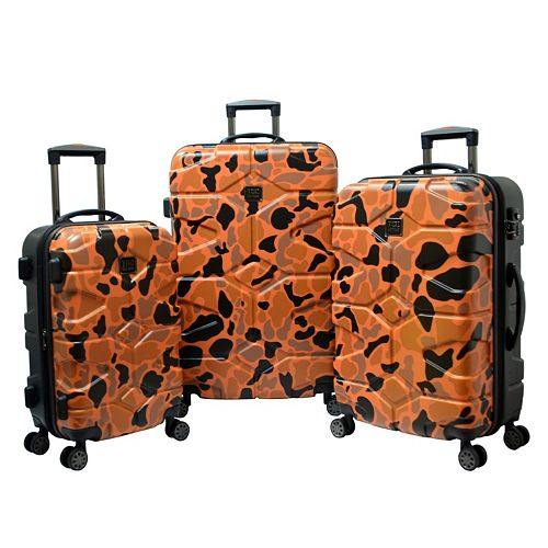 Travelers Club Wilder Camouflage 3-Piece Hardside Dual Spinner Luggage Set