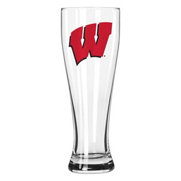 Boelter Wisconsin Badgers Clear Pilsner Glass