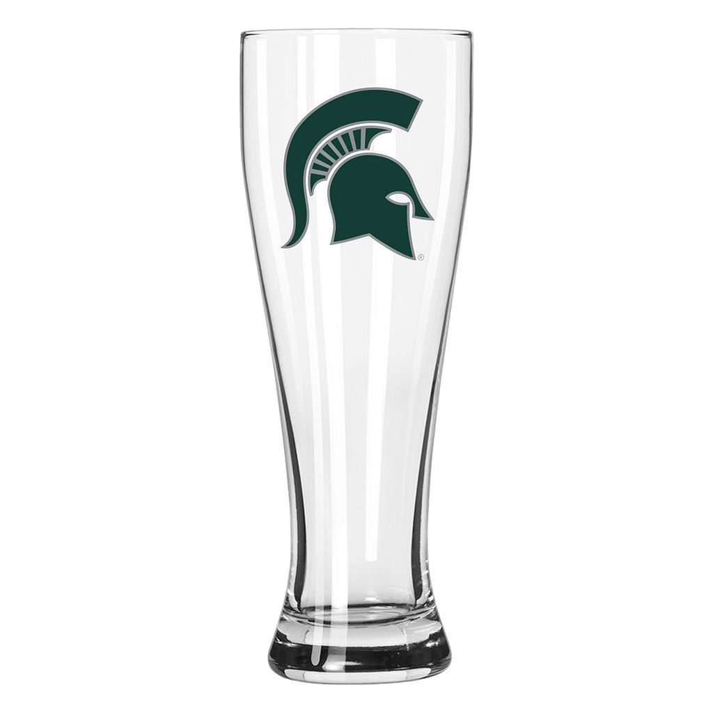 Boelter Michigan State Spartans Clear Pilsner Glass