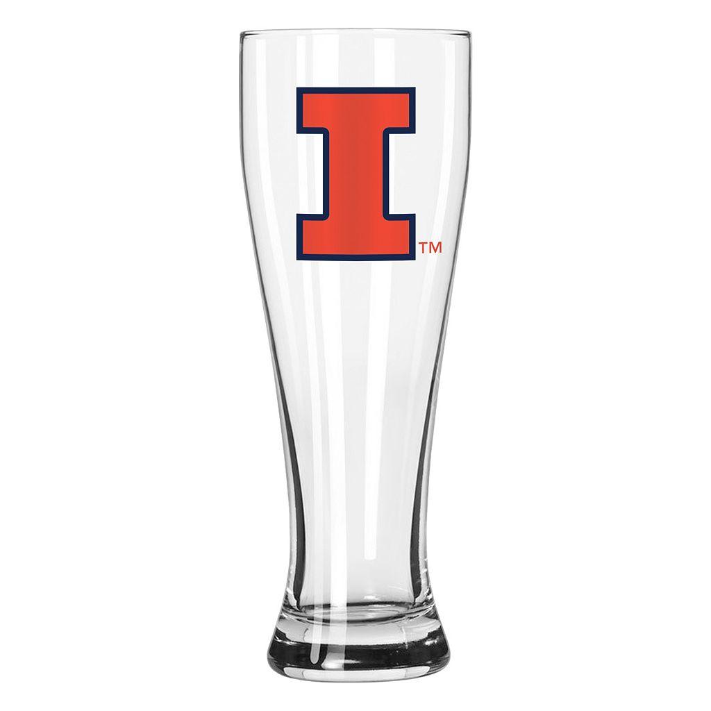 Boelter Illinois Fighting Illini Clear Pilsner Glass
