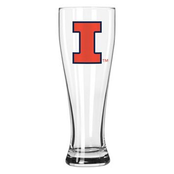 Boelter Illinois Fighting Illini Clear Pilsner Glass