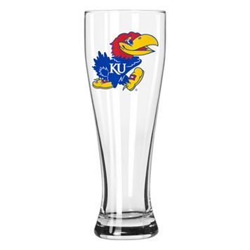 Boelter Kansas Jayhawks Clear Pilsner Glass