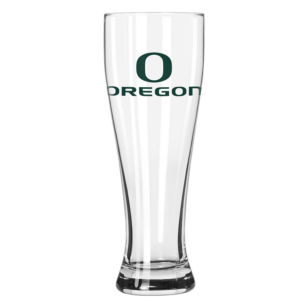 Boelter Oregon Ducks Clear Pilsner Glass