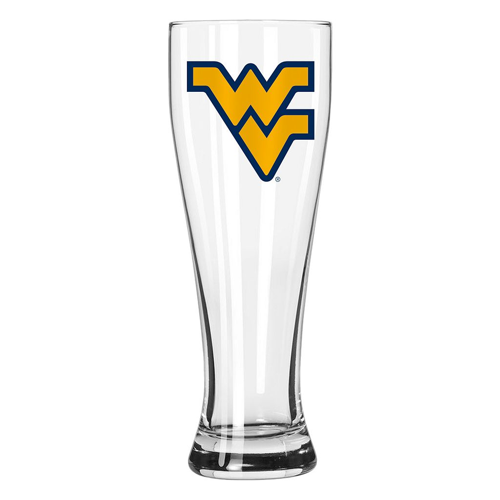 Boelter West Virginia Mountaineers Clear Pilsner Glass