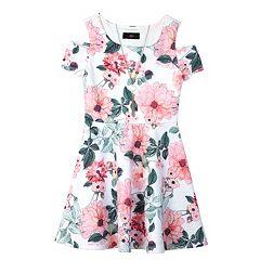 Girls 7-16 IZ Amy Byer Patterned Cold Should Dress with Necklace