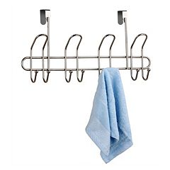 Home Basics Satin Nickel Over The Door 8 Hook Hanger