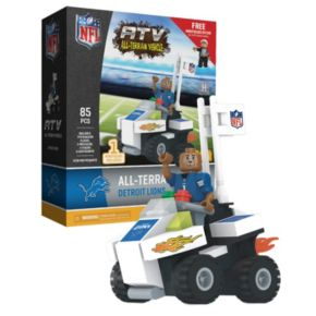 OYO Sports Detroit Lions Buildable ATV 4-Wheeler with Mascot