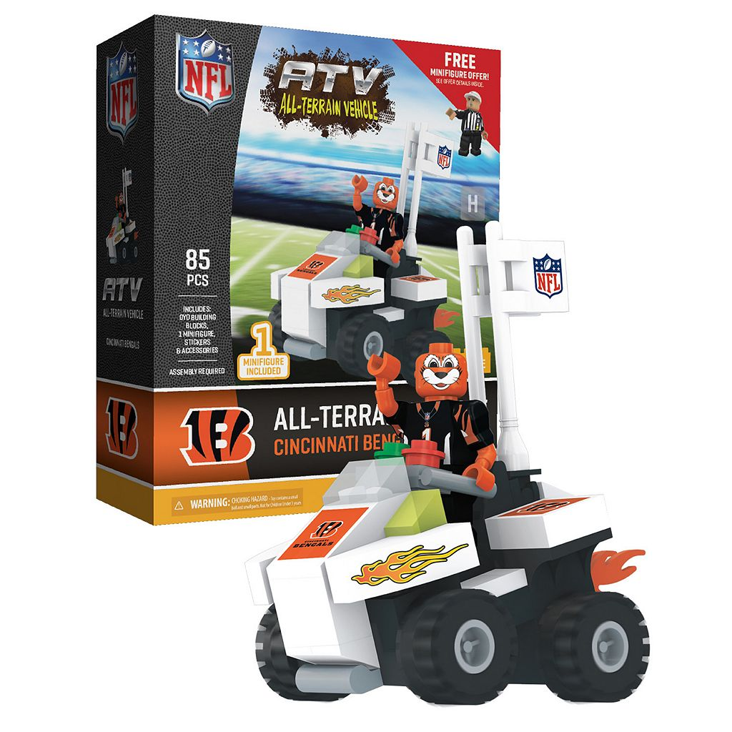 OYO Sports Cincinnati Bengals Buildable ATV 4-Wheeler with Mascot