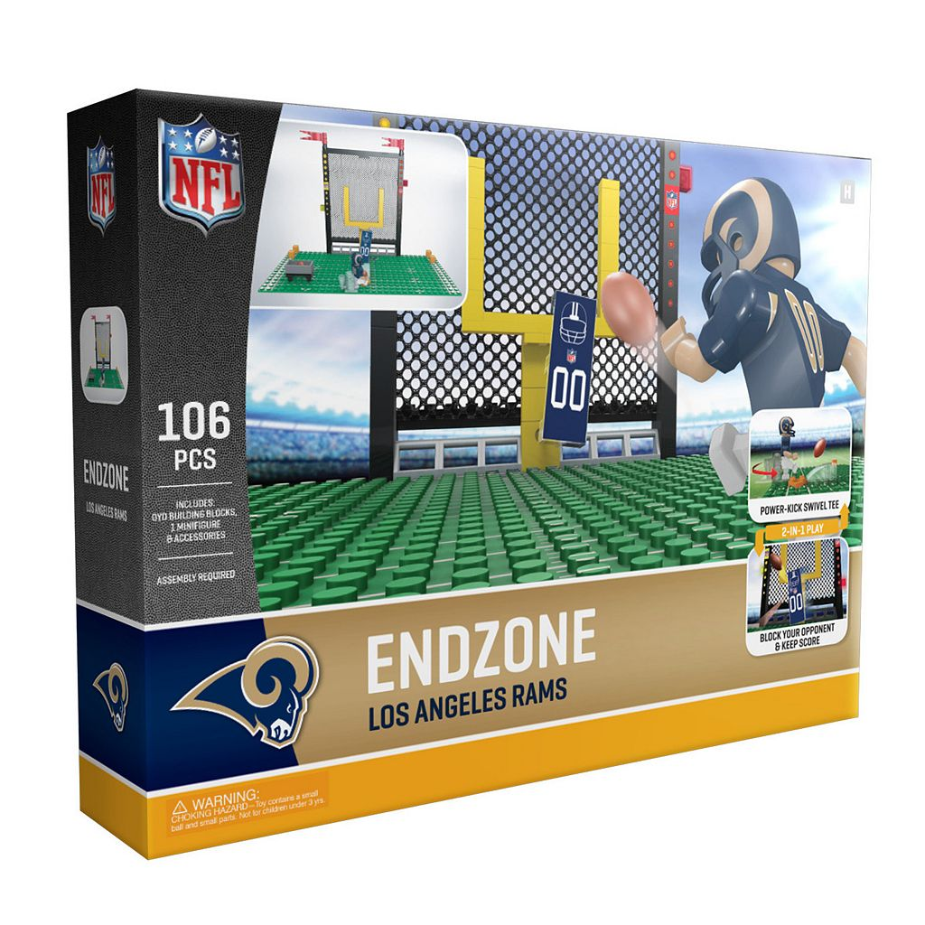 OYO Sports Los Angeles Rams 106-Piece Endzone Building Block Set