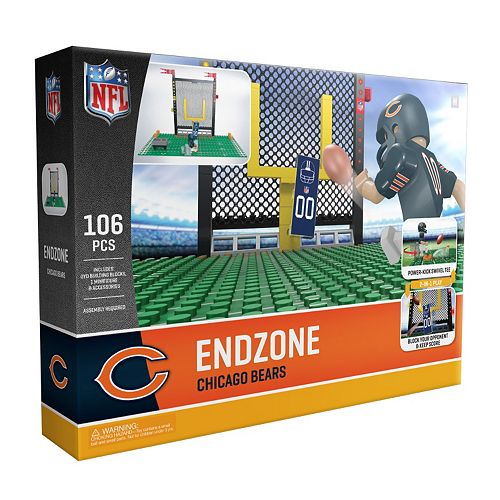 OYO Sports Chicago Bears 106-Piece Endzone Building Block Set