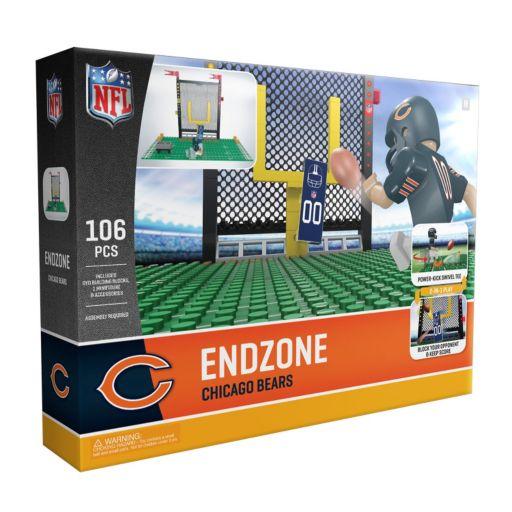 OYO Sports Chicago Bears 106-Piece Endzone Building Block Set