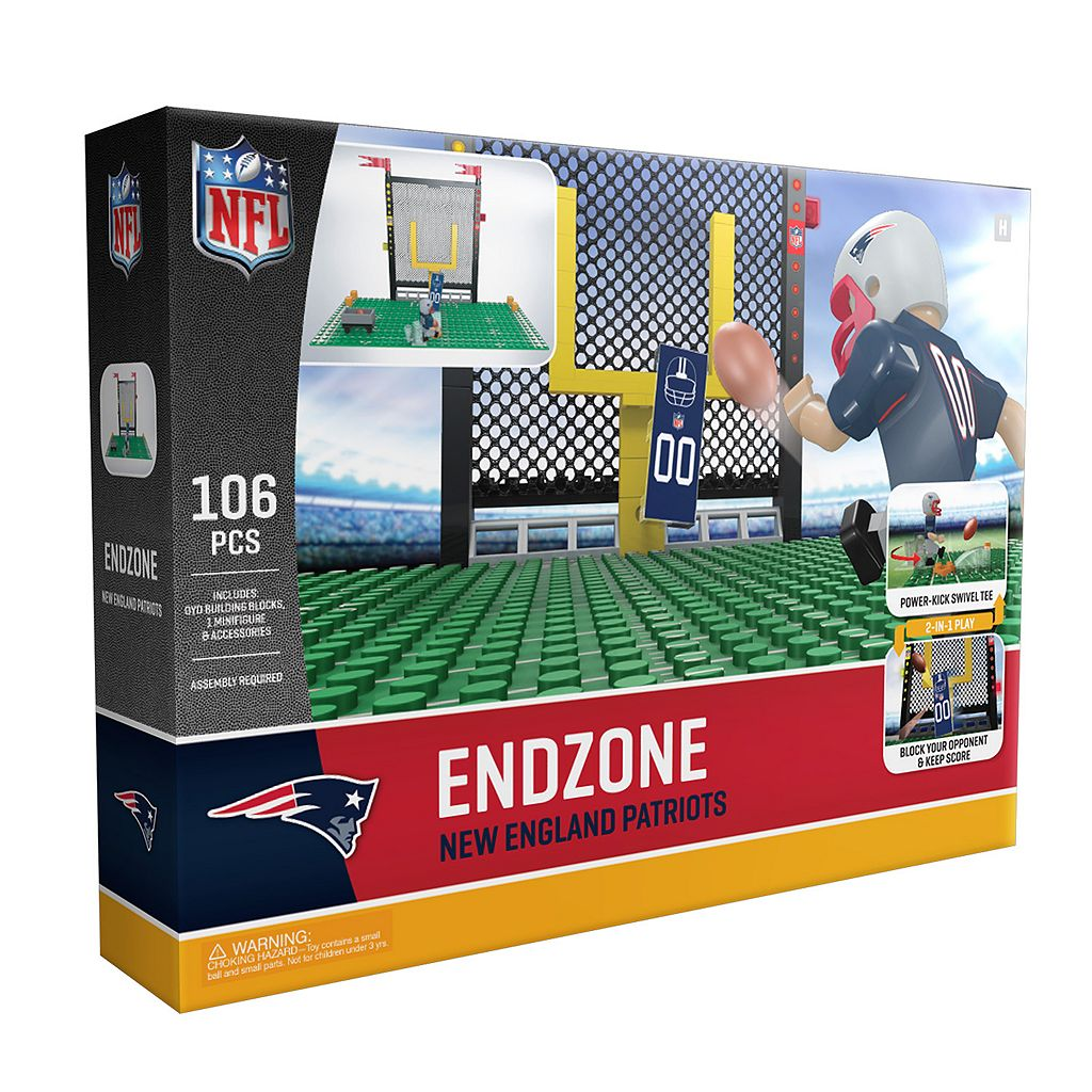 OYO Sports New England Patriots 106-Piece Endzone Building Block Set