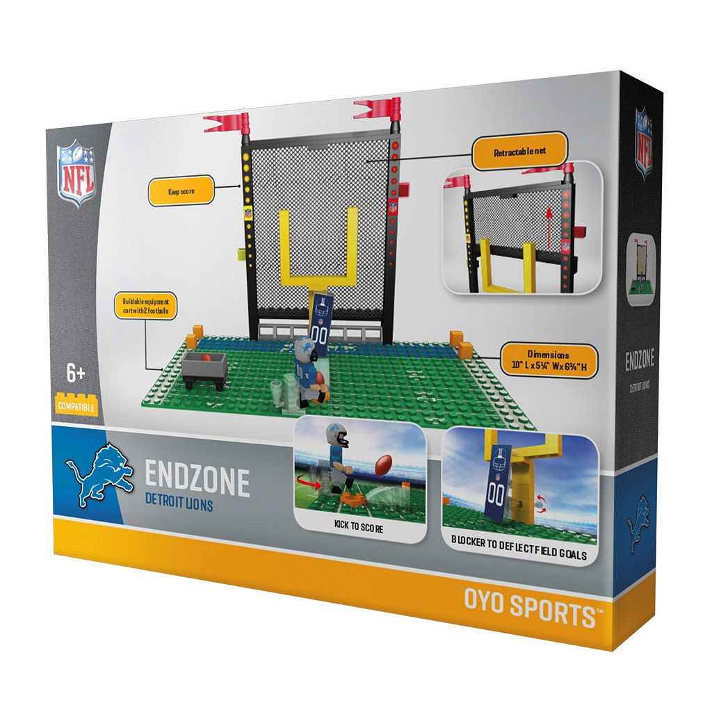 OYO Sports Detroit Lions 106-Piece Endzone Building Block Set