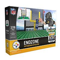 OYO Sports Pittsburgh Steelers 106-Piece Endzone Building Block Set
