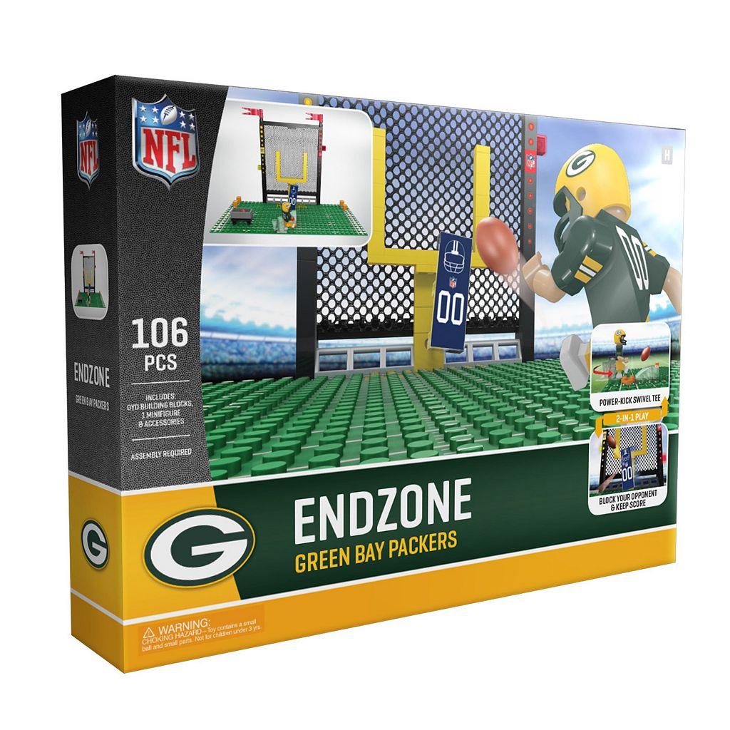 OYO Sports Green Bay Packers 106-Piece Endzone Building Block Set