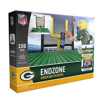 OYO Sports Green Bay Packers 106-Piece Endzone Building Block Set