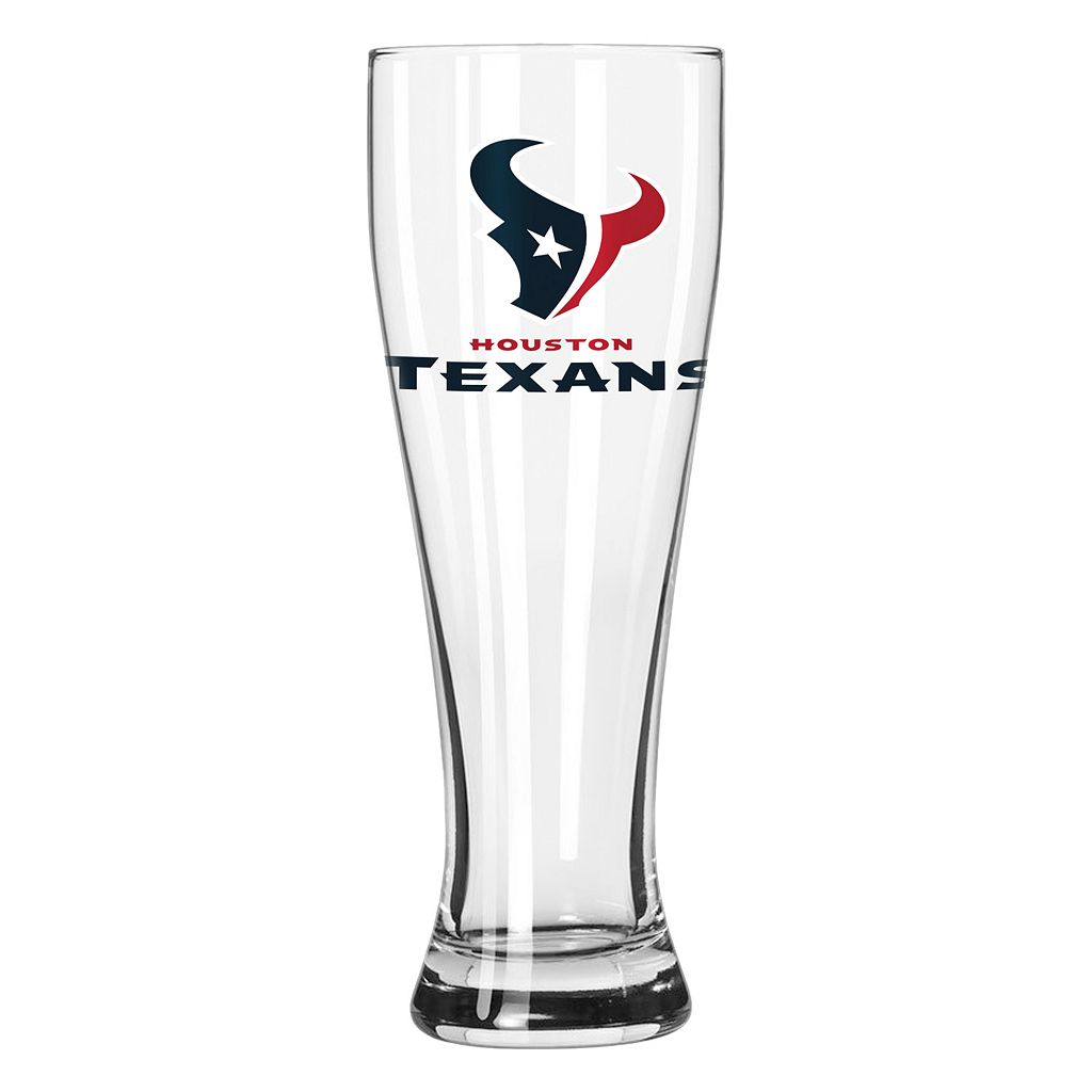 Boelter Houston Texans Clear Pilsner Glass