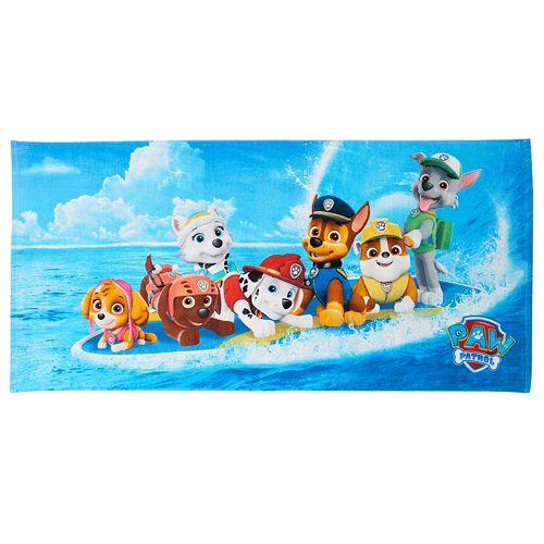 Personalized Paw Patrol Beach Towel: Paw Patrol Board Beach Towel