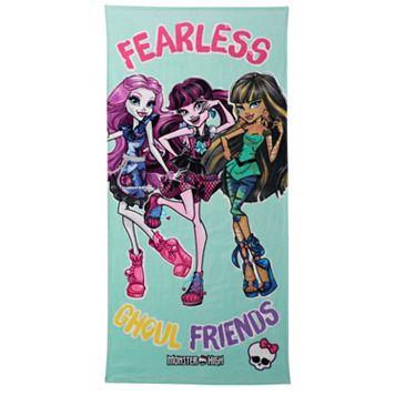 Mattel Monster High Fearless Friends Beach Towel