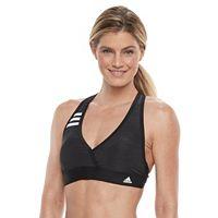Women's adidas Light as Heather Surplice Bikini Top