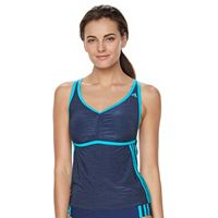 Women's adidas Light As Heather Sport Tankini Top