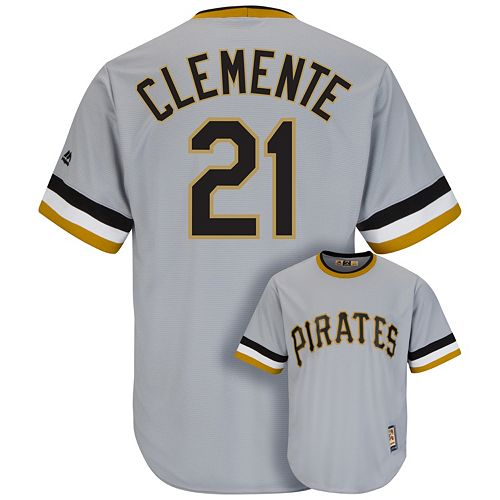 watch d2b1c 7936a Men's Majestic Pittsburgh Pirates Roberto Clemente Cool ...
