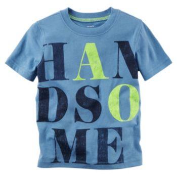 "Boys 4-8 Carter's Short Sleeve ""Handsome"" Graphic Tee"