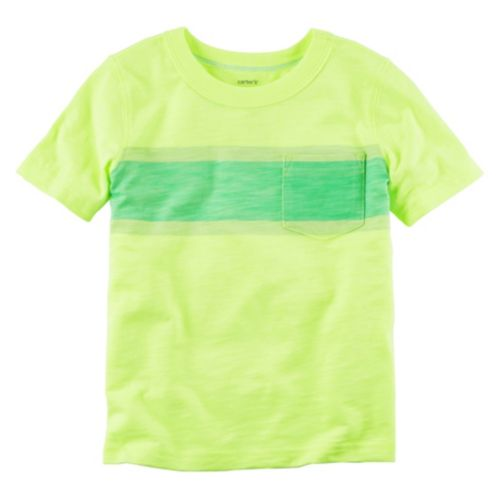 Boys 4-8 Carter's Yellow Striped Pocket Tee