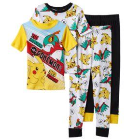 Boys 4-10 Pokémon Battle 4-Piece Pajama Set