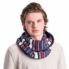Men's MUK LUKS Reversible Striped Infinity Scarf