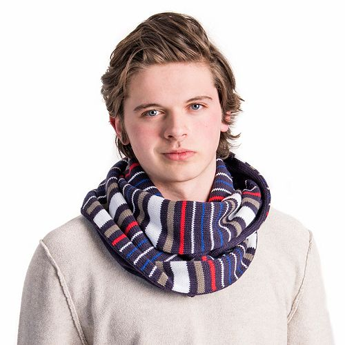 Men's MUK LUKS Reversible Striped Infinity Scarf