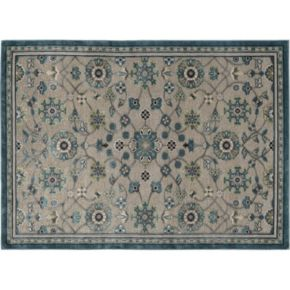 KHL Rugs Cambridge Amelie Framed Floral Rug