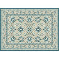 KHL Rugs Cambridge Colette Framed Floral Rug