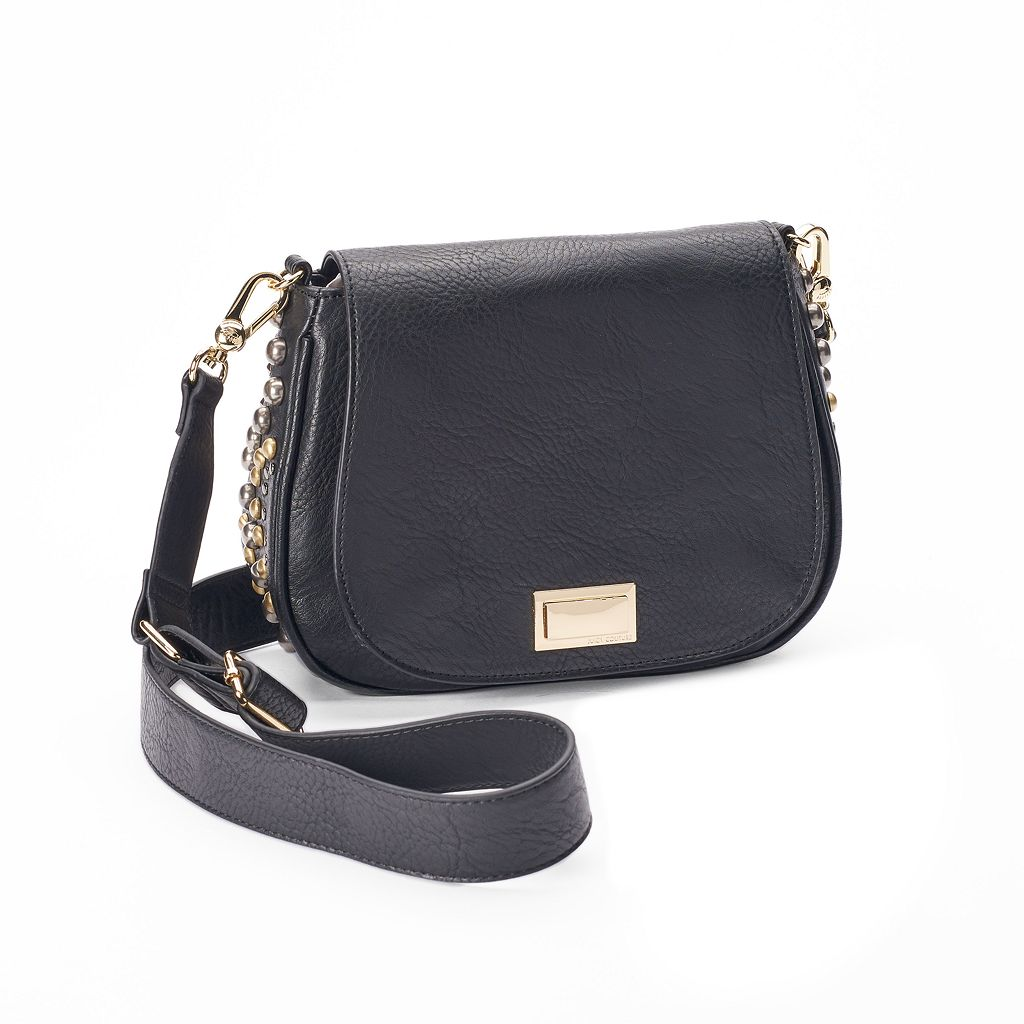 Juicy Couture Studded Crossbody Saddle Bag