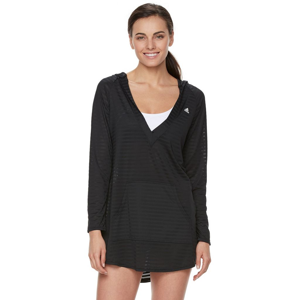 Women's adidas Shadow Stripe Hoodie Cover-Up