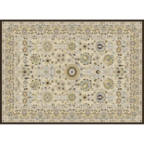 KHL Rugs Cambridge Ivanna Framed Floral Rug