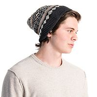 Men's MUK LUKS Fairisle Beanie