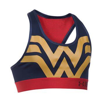 muy genial última tecnología chic clásico Girls 7-16 DC Comics Wonder Woman Sports Bra by Under Armour